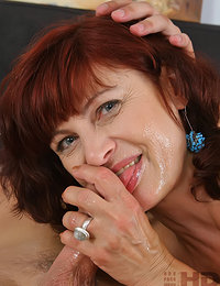 Russian Redhead Mom's Long Awaited Sex with a Young Guy is Here She's Being all Her Holes Fucked While Moaning from Pleasure